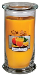 The Candle Factory The Candle Factory Large 15-ounce Jar Crackling Candle, Fresh Orange Squeeze