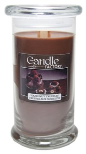 The Candle Factory The Candle Factory Large 15-ounce Jar Crackling Candle, Hazelnut Truffles