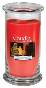 The Candle Factory The Candle Factory Large 15-ounce Jar Crackling Candle, Home for the Holidays