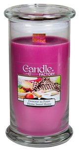 The Candle Factory The Candle Factory Large 15-ounce Jar Crackling Candle, Home Sweet Home
