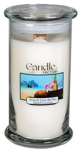 The Candle Factory The Candle Factory Large 15-ounce Jar Crackling Candle, Island Coconut