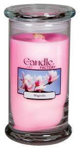 The Candle Factory The Candle Factory Large 15-ounce Jar Crackling Candle, Magnolia