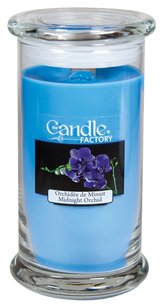 The Candle Factory The Candle Factory Large 15-ounce Jar Crackling Candle, Midnight Orchid