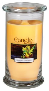 The Candle Factory The Candle Factory Large 15-ounce Jar Crackling Candle, Mimosa Mandarine