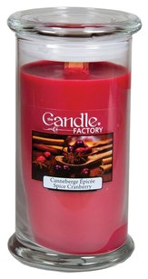 The Candle Factory The Candle Factory Large 15-ounce Jar Crackling Candle, Spiced Cranberry
