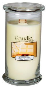 The Candle Factory The Candle Factory Large 15-ounce Jar Crackling Candle, White Chocolate