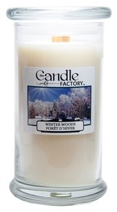 The Candle Factory The Candle Factory Large 15-ounce Jar Crackling Candle, Winter Woods