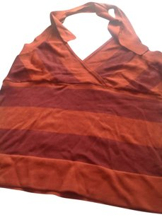 The Limited Like New Paprika stripes Halter Top
