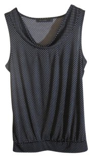 The Limited Sleeveless Top Black, White, Polka Dot