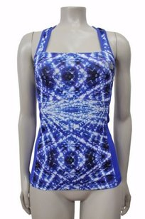 The North Face The North Face Eat My Dust Graphic Sport Racer Back Tank Blue Tp