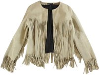 The Perfext Classic Cool Cream Fringe Ew Coat
