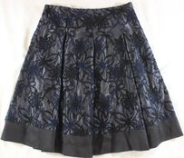 THE WRIGHTS Floral Skirt Black