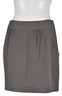 Theory Womens A Line Skirt Gray