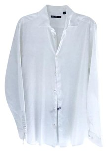 Theory As New Perfect Regular Fit 16.5 Neck Button Down Shirt white