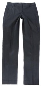 Theory Black Cropped Flat Front Na Pants