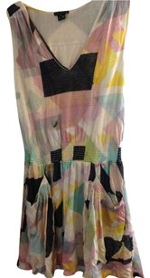 Theory short dress pink, yellow, blue, black, white Bloomingdales Short Knee V-neck Spring Summer Vacation on Tradesy