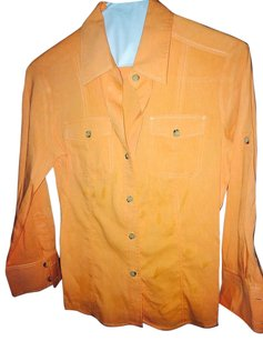 Theory Button Down Shirt light orange