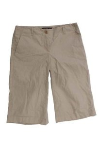 Theory Womens Khaki Shorts Beige