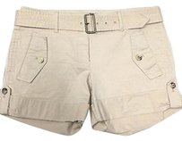 Theory Blend Casual Cropped Front Pocket 2797a Shorts Beige