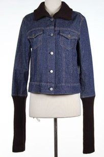 Theory Womens Brown Blue Jacket
