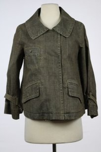 Theory Womens Jean Brown Jacket