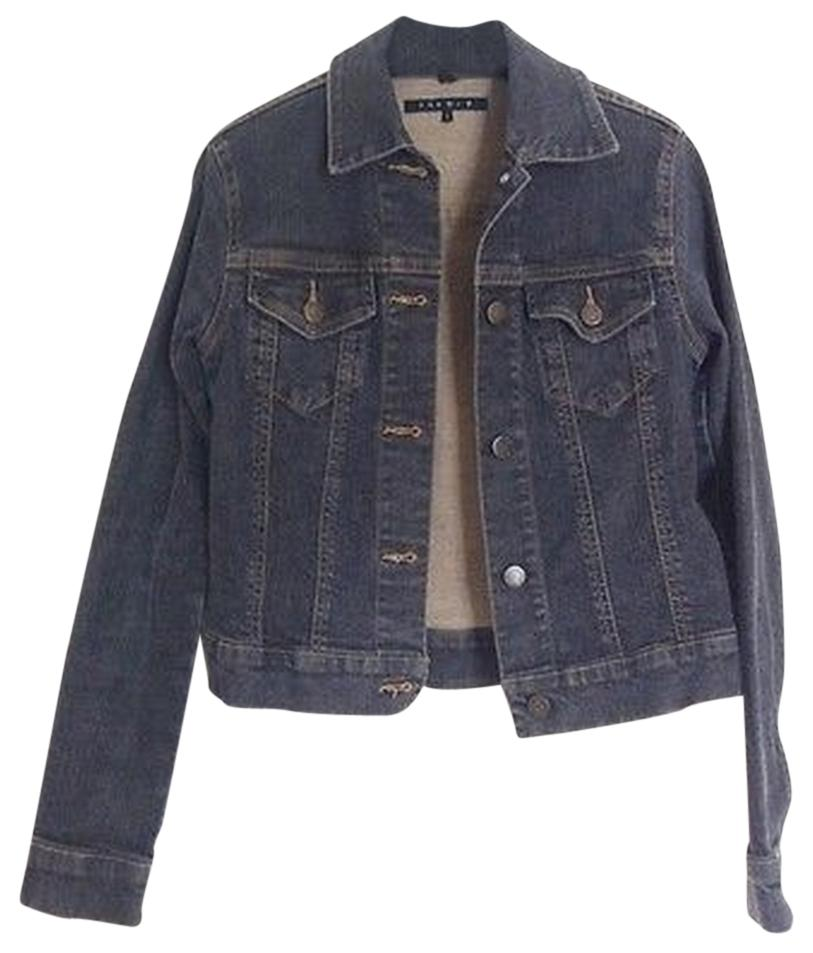 Theory Denim Fitted Jean Black / Gray Womens Jean Jacket