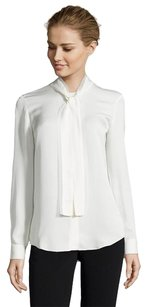 Theory Raashida Modern Long Sleeve Top Ivory