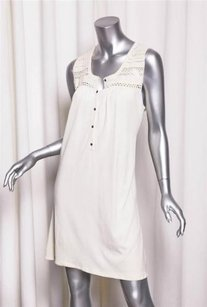 Theory short dress Cream Womens Cotton on Tradesy