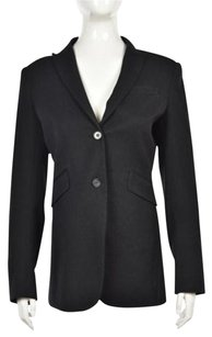 Theory Theory Womens Black Speckled Blazer Long Sleeve Wtw Wool Blend Jacket