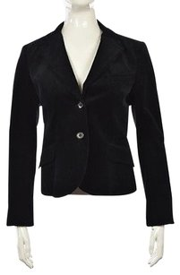 Theory Theory Womens Black Corduroy Blazer Cotton Long Sleeve Career Jacket