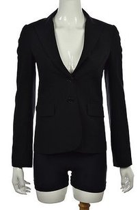 Theory Theory Womens Black Blazer Wool Solid Wtw Career Jacket