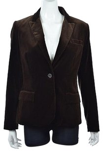Theory Theory Womens Brown Blazer Textured Cotton Wtw Jacket Coat