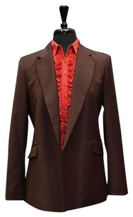 Theory B8 Theory Sedeia Garnet Continuous Wool Blend Open Front Blazer