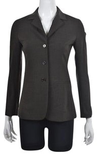 Theory Theory Womens Gray Blazer Suit Textured Speckled Wool Career Jacket