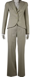 Theory Theory Womens Beige Pant Uit 46 Sm Wool Blazer Tousers