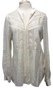 Theory Rayon Long Top ivory White