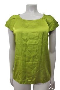 Theory Silk Lowther Pull Over Styling Top lime