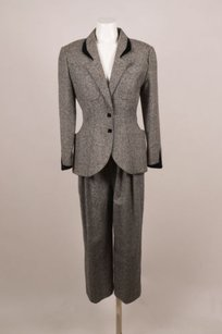 Thierry Mugler Vintage Theirry Mugler Blackwhitegray Wool Tweed Jacket Pant Suit