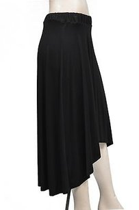 Three Dots High Low Skirt Black