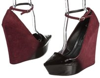 Thyskens Maroon/Black Wedges