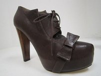 Tibi Brown Leather Lace Up Browns Platforms