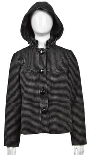 Tibi Womens Polka Dot Black Jacket