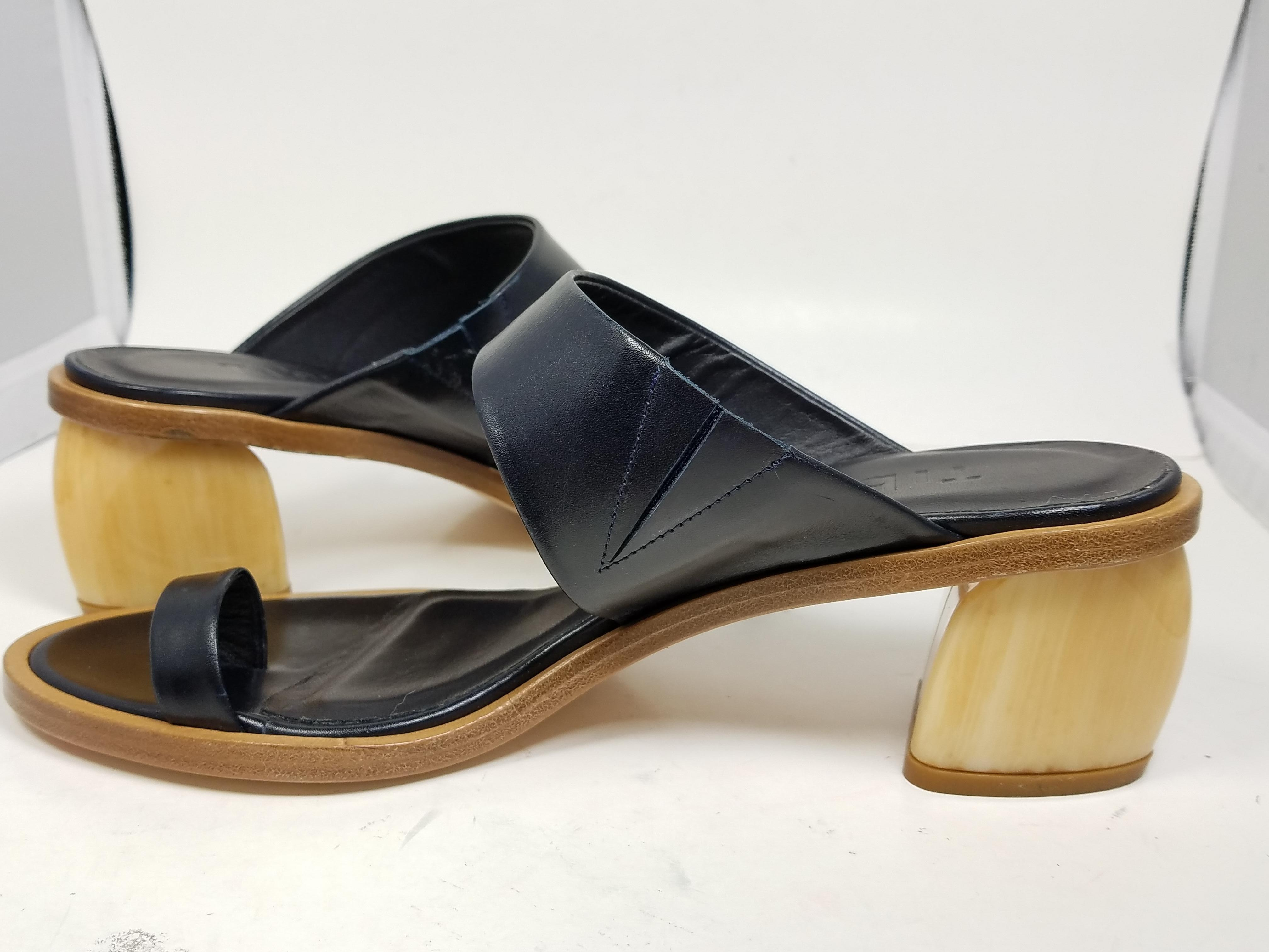 cheap perfect from china sale online Tibi Leather Slide Sandals iqgG1uxwAX