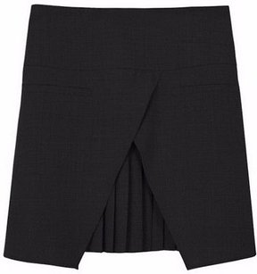 Tibi Edie Tropical Mini Mini Skirt Black