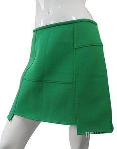 Tibi Super Chic Green Never Worn Mod Minimalistic Modern Skirt KELLLY GREEN