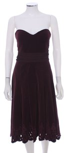 Tibi Strapless Black Gathered Pleated Night Out Dress