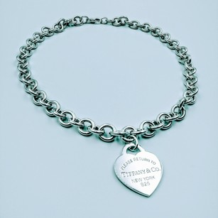 168166954 Tiffany & Co. 1.3 Large Heart Tag Please Return Necklace Sterling Silver