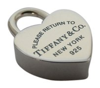 Tiffany & Co. Brand new Tiffany & Co Blue Heart Lock Return To Necklace Bracelet Charm Sterling Silver