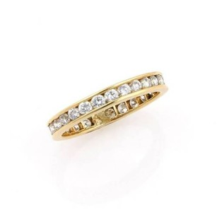 Tiffany & Co. Estate Tiffany Co. 18k Yellow Gold 1.00ct Diamond Eternity Band - 6.25