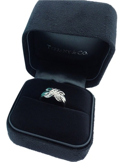 "Tiffany & Co Paloma Picasso Diamond ""X"" Ring with 18k White Gold"